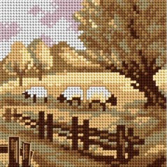 TAPESTRY CANVAS 15x15cm 2499D