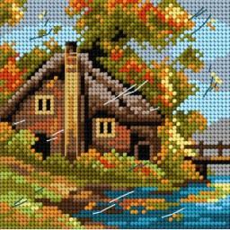 TAPESTRY CANVAS Autumn 15x15cm 2563D