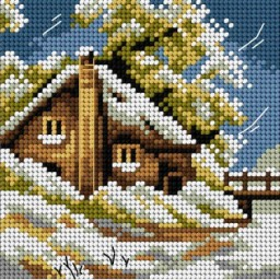 TAPESTRY CANVAS Winter 15x15cm 2564D