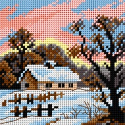 TAPESTRY CANVAS Winter 15x15cm 2600D