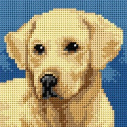 TAPESTRY CANVAS Dog 15x15cm 2713D