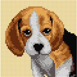 TAPESTRY CANVAS Dog 15x15cm 2720D