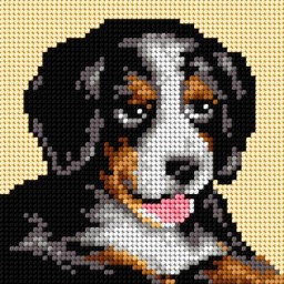 TAPESTRY CANVAS Dog 15x15cm 2721D