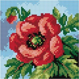 TAPESTRY CANVAS Poppy 15x15cm 2755D