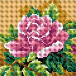 TAPESTRY CANVAS Rose 15x15cm 2756D
