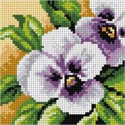 TAPESTRY CANVAS Violet 15x15cm 2757D