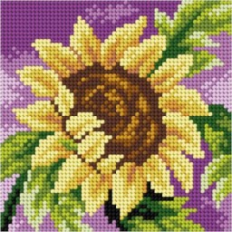 TAPESTRY CANVAS Sunflower 15x15cm 2758D