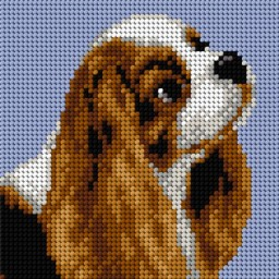 TAPESTRY CANVAS Dog 15x15cm 2780D
