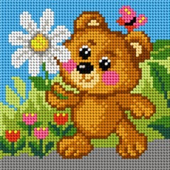 TAPESTRY CANVAS Bear 15x15cm 2812D