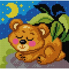TAPESTRY CANVAS Bear 15x15cm 2814D