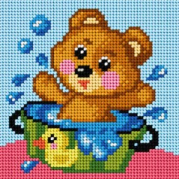 TAPESTRY CANVAS Bear 15x15cm 2815D