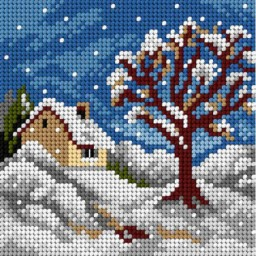 TAPESTRY CANVAS Winter 15x15cm 2844D