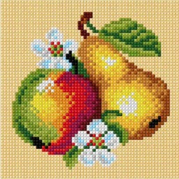 TAPESTRY CANVAS Fruits 15x15cm 2887D