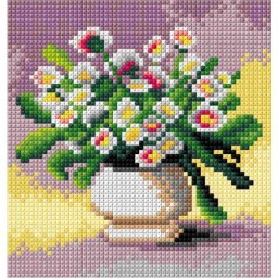 TAPESTRY CANVAS Flowers 15x15cm 2898D