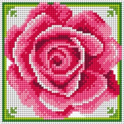 TAPESTRY CANVAS Rose 15x15cm 3061D