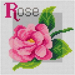 TAPESTRY CANVAS Rose 15x15cm 3192D