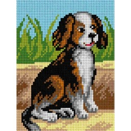 TAPESTRY CANVAS Dog 15x20cm 2824E