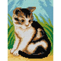 TAPESTRY CANVAS Cat 15x20cm 2825E