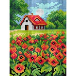 TAPESTRY CANVAS Poppies 15x20cm 2874E