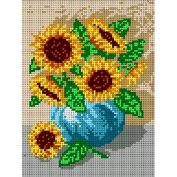 TAPESTRY CANVAS Bouquet of Sunflowers 18x24cm 1324F