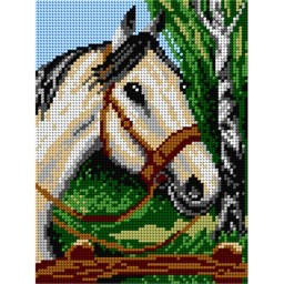 TAPESTRY CANVAS Horse Head 18x24cm 1460F