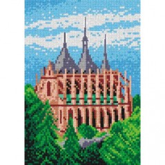 TAPESTRY CANVAS Building 18x24cm 1593F
