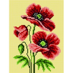 TAPESTRY CANVAS Poppies 18x24cm 1618F