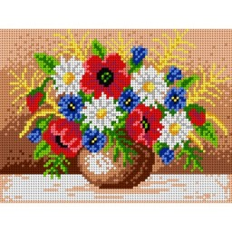 TAPESTRY CANVAS Bouquet of Field Flowers 18x24cm 1639F
