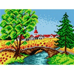 TAPESTRY CANVAS Summer Village 18x24cm 1695F