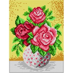 TAPESTRY CANVAS Roses 18x24cm 1701F
