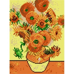 TAPESTRY CANVAS Sunflowers after Van Gogh 18x24cm 1814F
