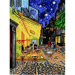 TAPESTRY CANVAS Caffe Terrace at night after Vincent  van Gogh 18x24cm 1815F