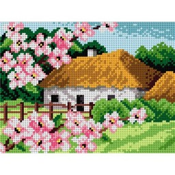 TAPESTRY CANVAS Spring Landscape 18x24cm 1848F