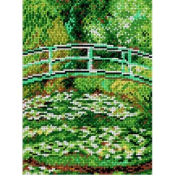 TAPESTRY CANVAS Water Lily Pond after Claude Monet 18x24cm 1874F