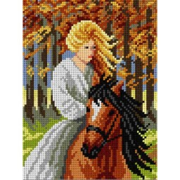 TAPESTRY CANVAS Riding 18x24cm 1941F