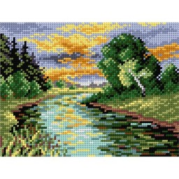 TAPESTRY CANVAS Summer Sunset 18x24cm 2040F