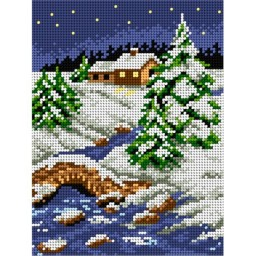 TAPESTRY CANVAS Winter 18x24cm 2072F