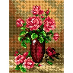 TAPESTRY CANVAS Roses 18x24cm 2076F