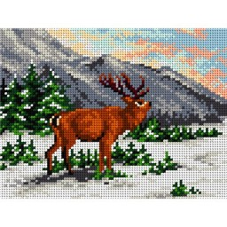 TAPESTRY CANVAS Deer 18x24cm 2090F