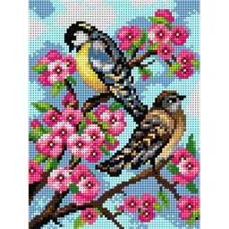 TAPESTRY CANVAS Birds 18x24cm 2119F
