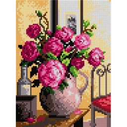 TAPESTRY CANVAS Bouquet of Roses 18x24cm 2121F