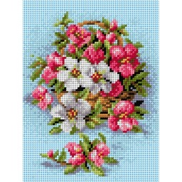TAPESTRY CANVAS Flowers 18x24cm 2136F