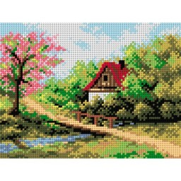 TAPESTRY CANVAS Spring Landscape 18x24cm 2141F