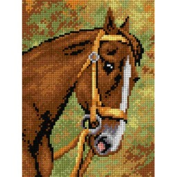 TAPESTRY CANVAS Horse 18x24cm 2197F