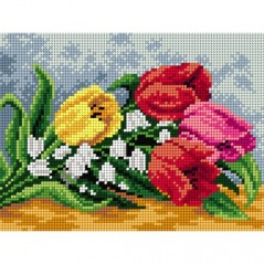 TAPESTRY CANVAS Flowers 18x24cm 2239F
