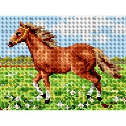 TAPESTRY CANVAS Horse 18x24cm 2256F