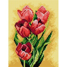 TAPESTRY CANVAS Tulips 18x24cm 2310F