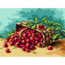 TAPESTRY CANVAS Cherries 30X40cm 2366J