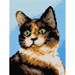TAPESTRY CANVAS Cat 18x24cm 2459F