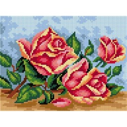 TAPESTRY CANVAS Roses on the Table 18x24cm 2468F